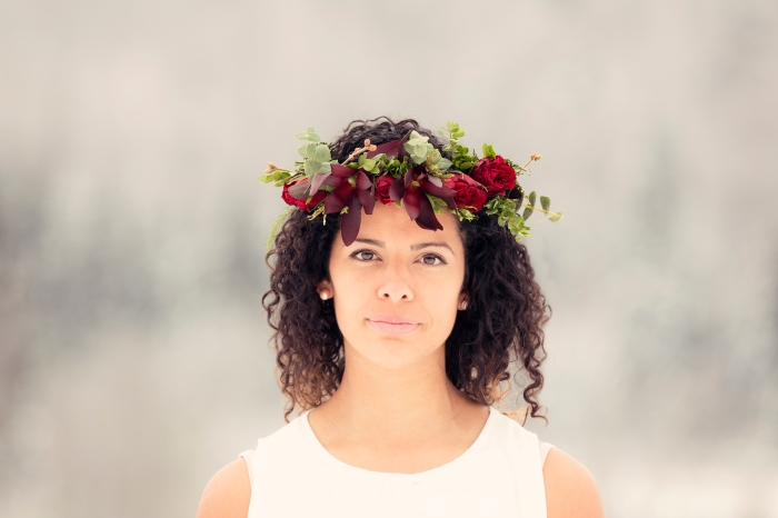 Red Rose/Eucalyptus Crown