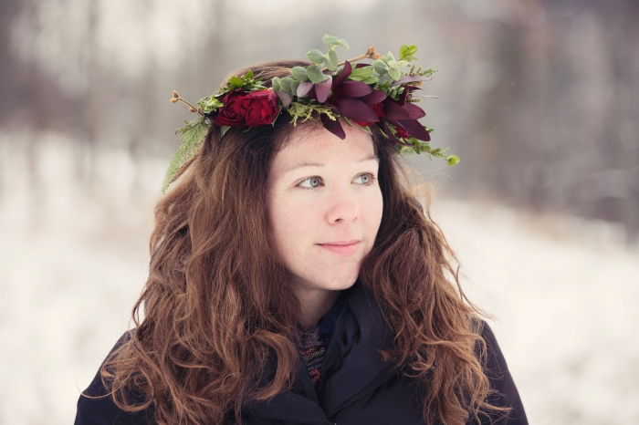 Rose/Eucalyptus Floral Crown