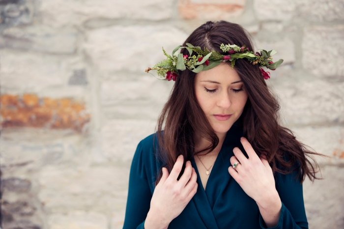 Flower Crown - Eucalyptus and Orchids